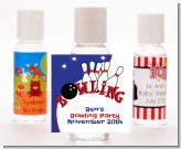 Bowling Boy - Personalized Birthday Party Hand Sanitizers Favors