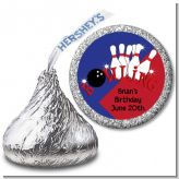 Bowling Boy - Hershey Kiss Birthday Party Sticker Labels