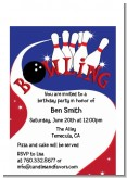 Bowling Boy - Birthday Party Petite Invitations
