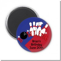 Bowling Boy - Personalized Birthday Party Magnet Favors