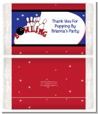 Bowling Boy - Personalized Popcorn Wrapper Birthday Party Favors