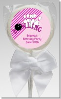 Bowling Girl - Personalized Birthday Party Lollipop Favors