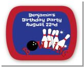Bowling Boy - Personalized Birthday Party Rounded Corner Stickers