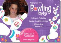Bowling Party - Photo Birthday Party Invitations