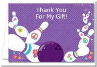 Bowling Party - Birthday Party Thank You Cards