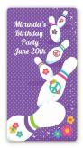 Bowling Party - Custom Rectangle Birthday Party Sticker/Labels