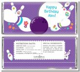 Bowling Party - Personalized Birthday Party Candy Bar Wrappers