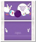 Bowling Party - Personalized Popcorn Wrapper Birthday Party Favors
