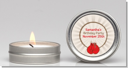 Boxing Gloves - Birthday Party Candle Favors