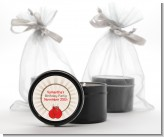Boxing Gloves - Birthday Party Black Candle Tin Favors