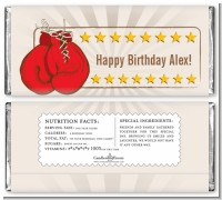Boxing Gloves - Personalized Birthday Party Candy Bar Wrappers