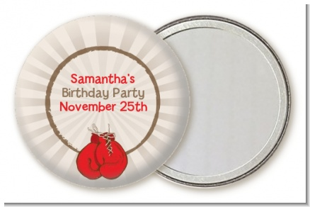 Boxing Gloves - Personalized Birthday Party Pocket Mirror Favors