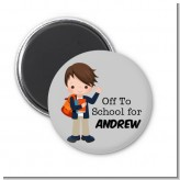 Boy Student - Personalized School Magnet Favors