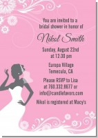 Bridal Silhouette African American - Bridal Shower Invitations
