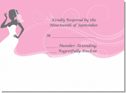 bridal silhouette african american bridal shower response cards