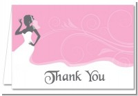 Bridal Silhouette African American - Bridal Shower Thank You Cards