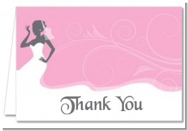 Bridal Silhouette African American - Bridal | Wedding Thank You Cards
