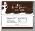 Bridal Silhouette Floral Pink - Personalized Bridal Shower Candy Bar Wrappers thumbnail