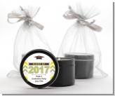 Brilliant Scholar - Graduation Party Black Candle Tin Favors