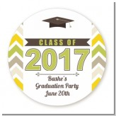 Brilliant Scholar - Round Personalized Graduation Party Sticker Labels