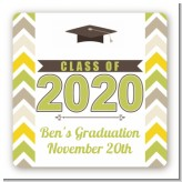 Brilliant Scholar - Square Personalized Graduation Party Sticker Labels