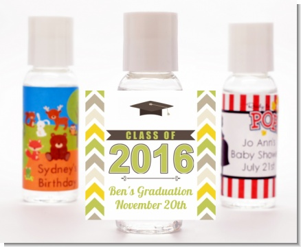 Brilliant Scholar - Personalized Graduation Party Hand Sanitizers Favors