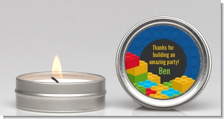Building Blocks - Birthday Party Candle Favors