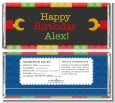Building Blocks - Personalized Birthday Party Candy Bar Wrappers thumbnail