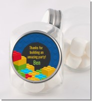 Building Blocks - Personalized Birthday Party Candy Jar