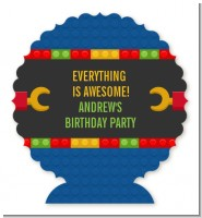 Building Blocks - Personalized Birthday Party Centerpiece Stand