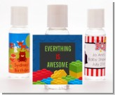 Building Blocks - Personalized Birthday Party Hand Sanitizers Favors