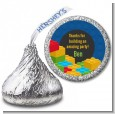 Building Blocks - Hershey Kiss Birthday Party Sticker Labels thumbnail
