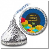 Building Blocks - Hershey Kiss Birthday Party Sticker Labels