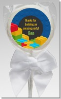 Building Blocks - Personalized Birthday Party Lollipop Favors