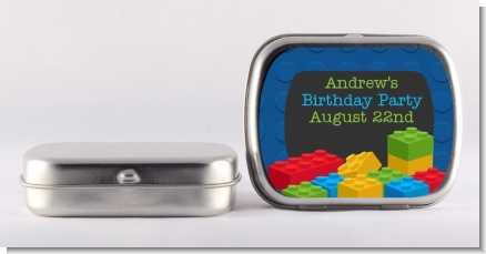 Building Blocks - Personalized Birthday Party Mint Tins