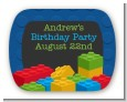 Building Blocks - Personalized Birthday Party Rounded Corner Stickers thumbnail