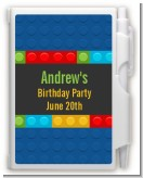 Building Blocks - Birthday Party Personalized Notebook Favor