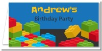 Building Blocks - Personalized Birthday Party Place Cards