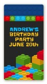 Building Blocks - Custom Rectangle Birthday Party Sticker/Labels