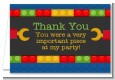 Building Blocks - Birthday Party Thank You Cards thumbnail