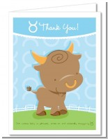 Bull | Taurus Horoscope - Baby Shower Thank You Cards
