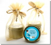 Bun in the Oven Boy - Baby Shower Gold Tin Candle Favors
