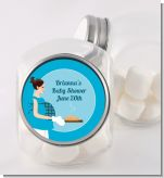 Bun in the Oven Boy - Personalized Baby Shower Candy Jar