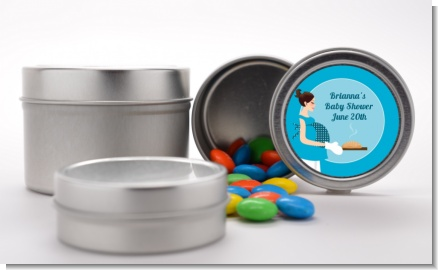Bun in the Oven Boy - Custom Baby Shower Favor Tins
