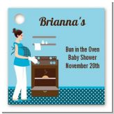 Bun in the Oven Boy - Personalized Baby Shower Card Stock Favor Tags