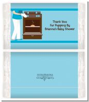 Bun in the Oven Boy - Personalized Popcorn Wrapper Baby Shower Favors