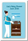 Bun in the Oven Boy - Custom Large Rectangle Baby Shower Sticker/Labels