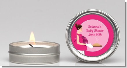 Bun in the Oven Girl - Baby Shower Candle Favors