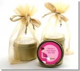 Bun in the Oven Girl - Baby Shower Gold Tin Candle Favors