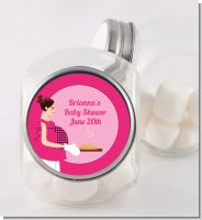 Bun in the Oven Girl - Personalized Baby Shower Candy Jar